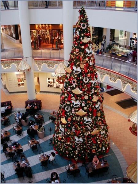 """Новогодняя елка  в торговом комплексе """"Атриум"""""""