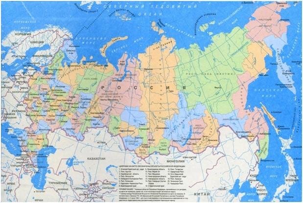 географическая карта мира.