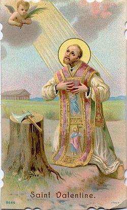 День святого Валентина - святой Валентин