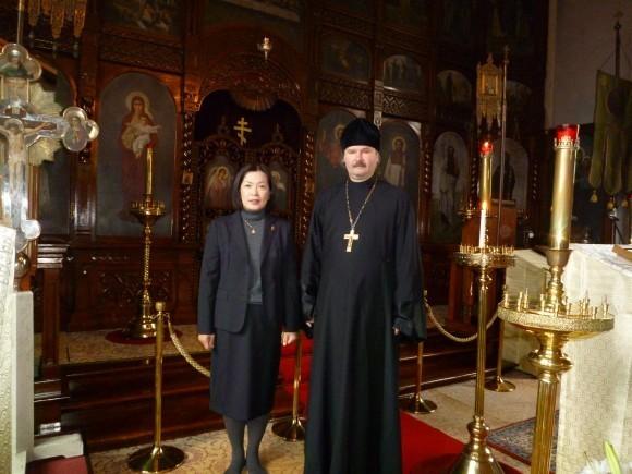 Священник Николай Дмитриев с супругой