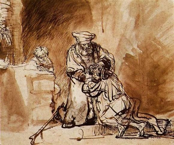 """Рембрандт, """"Блудный сын"""", 1642 год"""
