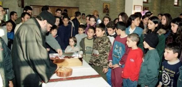 Митрополит Афанасий с молодежью