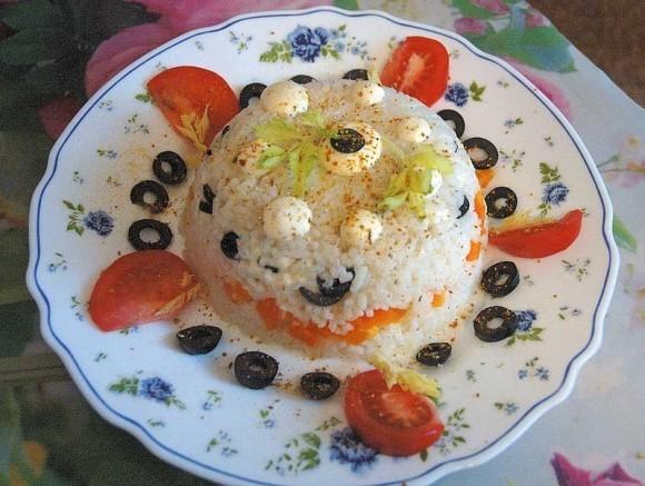 Рецепты постных блюд - рисовый тортик