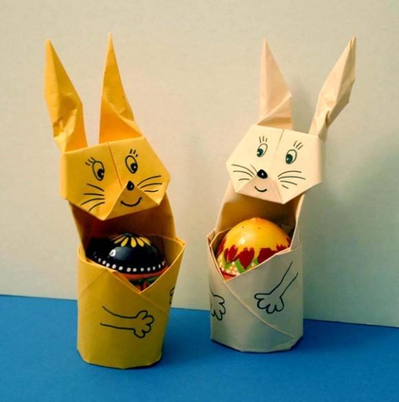 Подставка под яйцо зайчик своими руками