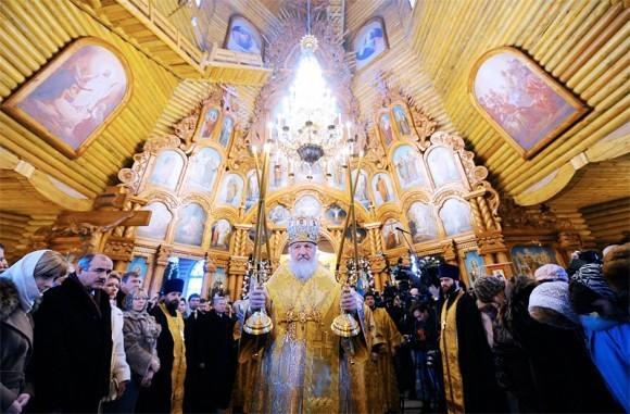 Освящение храма в Звездном городске
