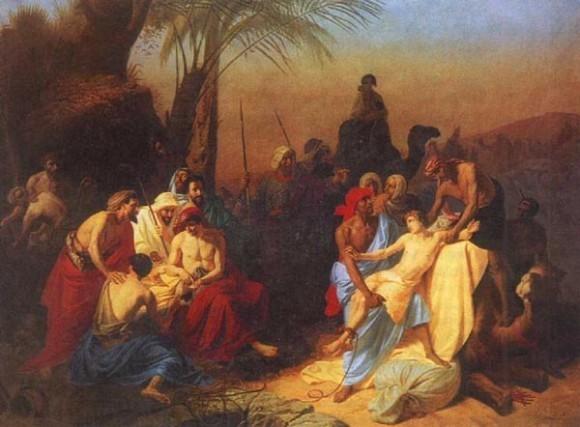 К. Флавицкий. Продажа Иосифа в рабство