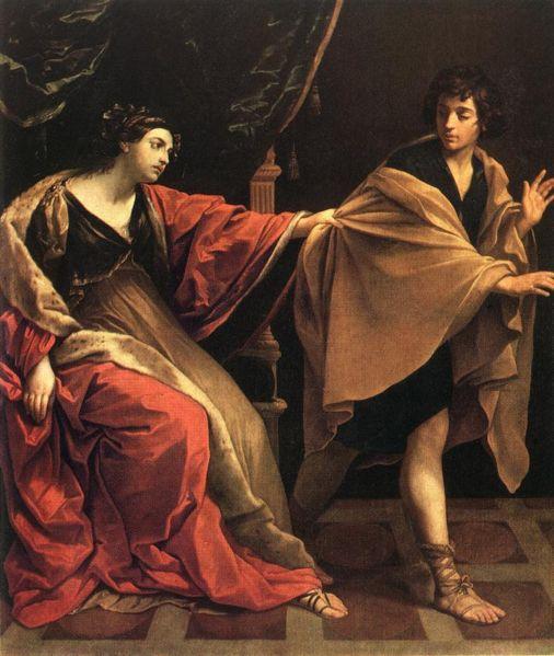 Г. Рени. Иосиф и жена Потифара