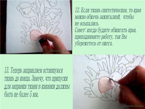 Пэчворк без иглы.  Мастер-класс изготовления пасхальной картины из лоскутков.