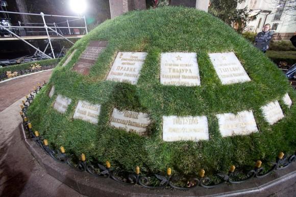 Мемориальные таблички с именами ликвидаторов