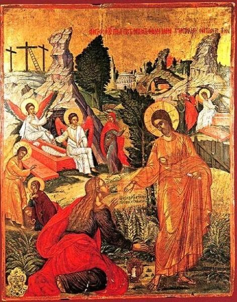 Явление Христа Марии Магдалине. Михаил Дамаскин, 2 пол. XVI в.