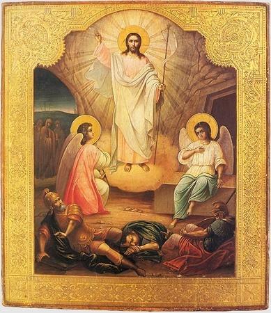Воскресение Христово. Александр Кузнецов, 1898 г. Государственный музей Палехского искусства