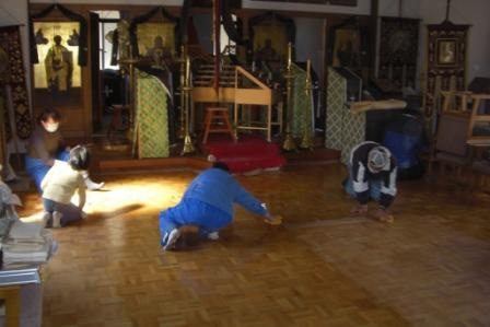 Исиномаки, внутри церкви св.Иоанна Богослова