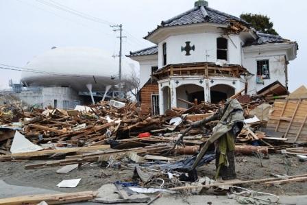 Исиномаки. Старая церковь-музей разрушена цунами