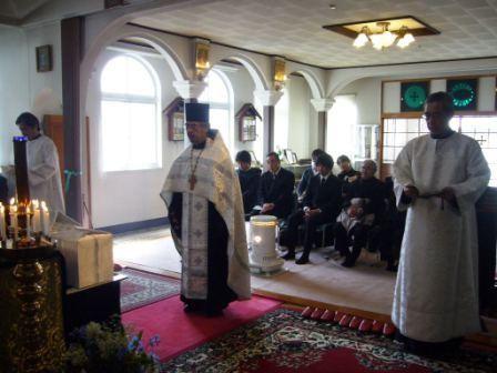 Панихида по жертвам землетрясения в Вознесенской церкви в Сакари