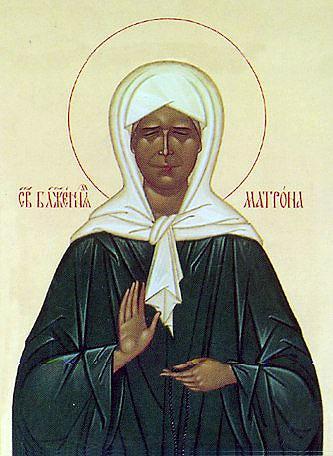 Святая Матрона Московская икона