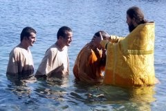 Крещение троих мусульман (+ фото)