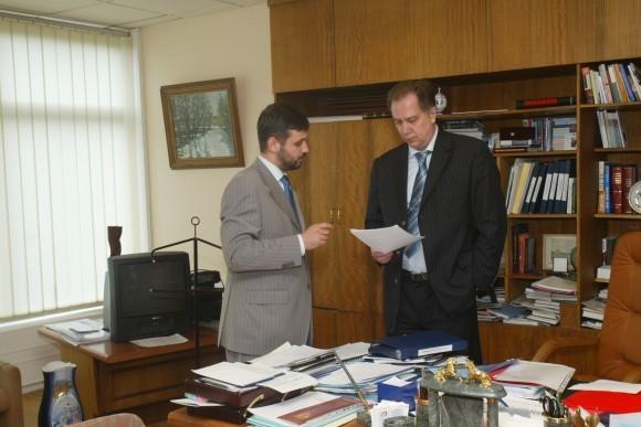 С министром культуры Алексеем Соколовым
