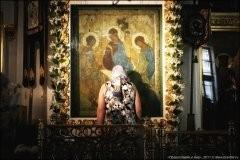 Троица Андрея Рублева – 4 дня в храме (ФОТО)