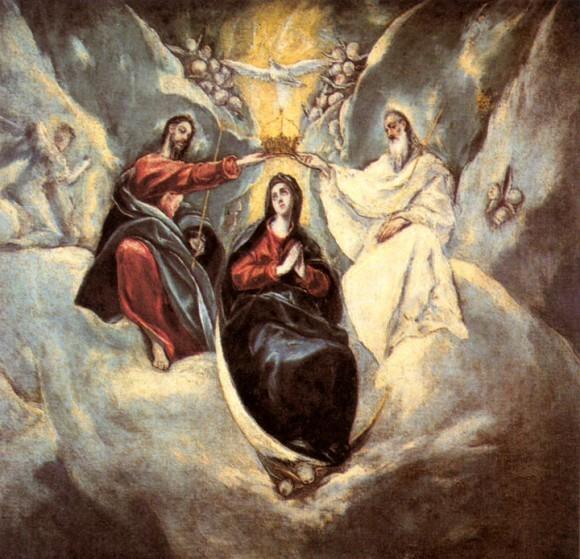 Богородица на изображениях Троицы