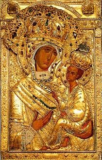 Тихвинская икона Божией Матери северная царица