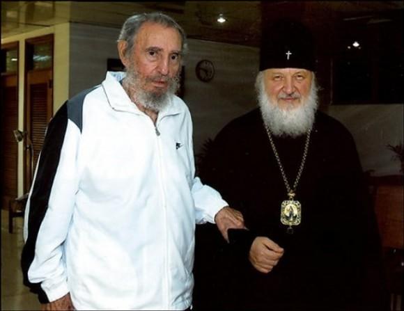 Митрополит Кирилл и Фидель Кастро
