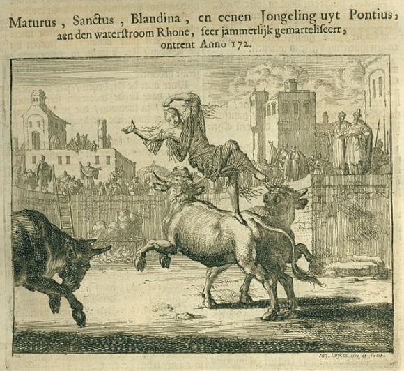 Страдание мученицы Бландины