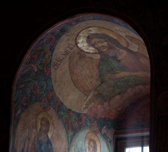 фреска св. Иоанна Предтечи. Фото Юлии Маковейчук