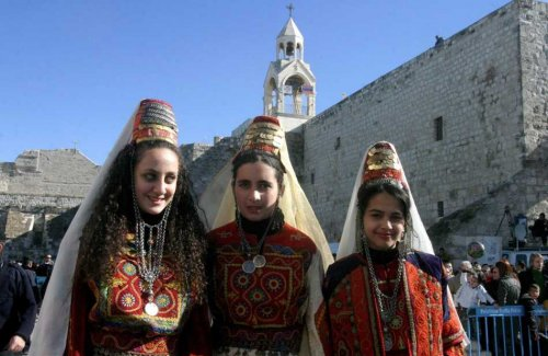 Христианки Палестины на рождественском празднике