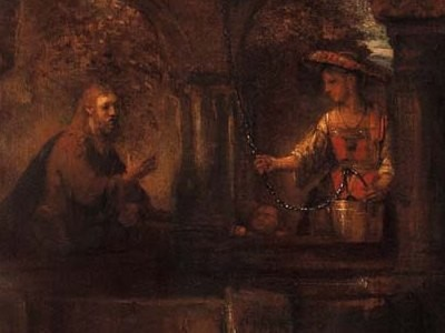 Христос и самарянка. Рембрандт Харменс ван Рейн. 1659