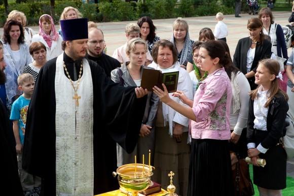 1 сентября священник, учителя и первоклассники молились вместе (+ фото)