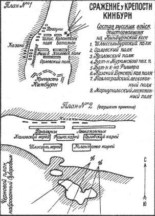 Дальние подступы к Херсону прикрывала Кинбурнская крепость, расположенная на косе напротив Очакова.