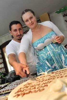 С женой Дашей