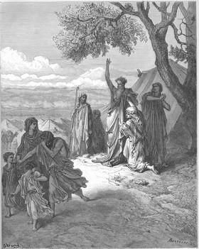 Гюстав Доре. Ной проклинает сына своего Хама