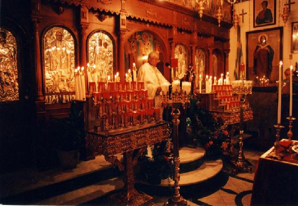 в храме святителя Николая до разрушения
