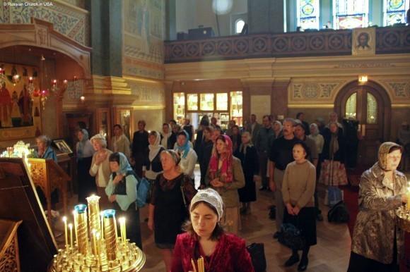Литургия в Свято-Николаевском соборе Нью-Йорка в праздник Рождества Пресвятой Богородицы