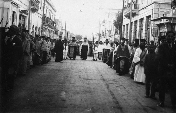Встреча Честного Пояса в греческом городе Патры, 6 октября 1929 года