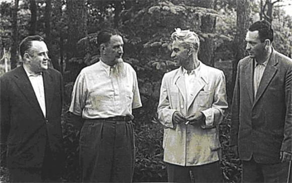 Малоизвестная версия фотографии «Три К».  Королёв, Курчатов, Келдыш и Мишин