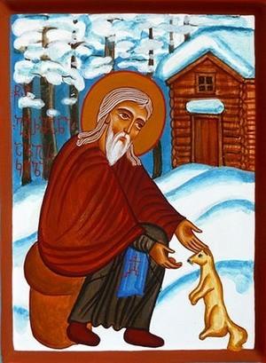 Преподобный Герман Аляскинский. Автор: Лаша Кинцурашвили. 2006 г.