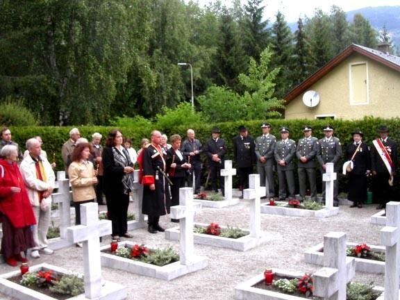 Панихида на братском кладбище в Лиенце