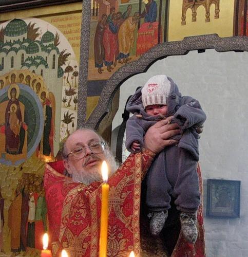 Отец Сергий представляет нового прихожанина