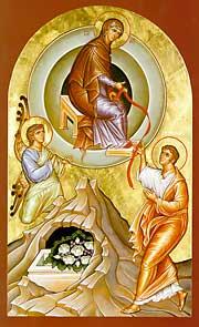 Богородица отдает пояс апостолу Фоме