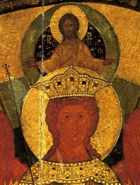 Евангелие от Матфея. София Премудрость Божия, фрагмент иконы.