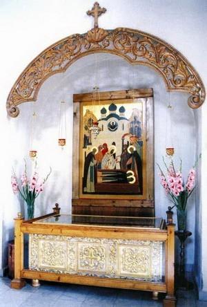 Мощи прпп.Кирилла и Марии в Хотьковском монастыре.