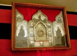 частица Ризы Господа нашего Иисуса Христа в храме Христа Спасителя