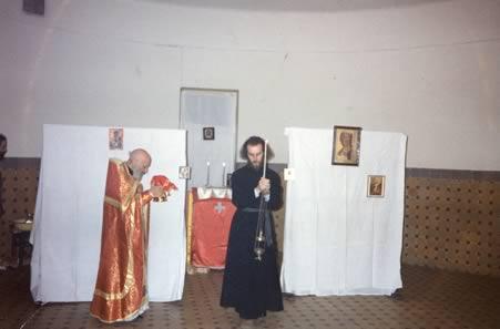 Первая Литургия в Покровском храме