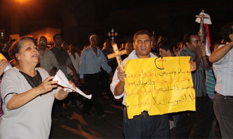 Улица Галаа за минуты до кровавого поворота событий в Масперо, Центр города, Каир, 9 сентября, 2011 (Фото: Нада Аль-Коуни)