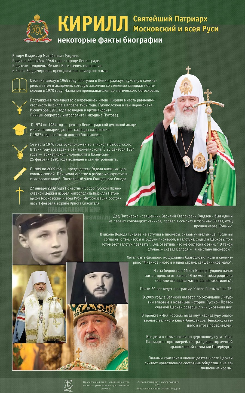 Поздравления святейшему патриарху