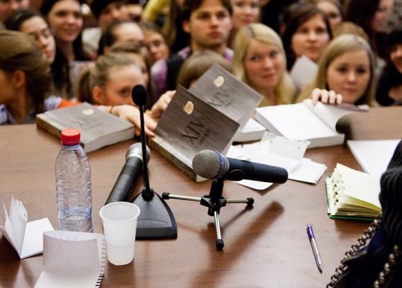 Иван Охлобыстин. Встреча со студентами журфака МГУ. Фото Анны Гальпериной (44)