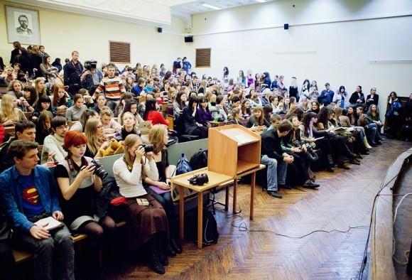 Иван Охлобыстин. Встреча со студентами журфака МГУ. Фото Анны Гальпериной (53)