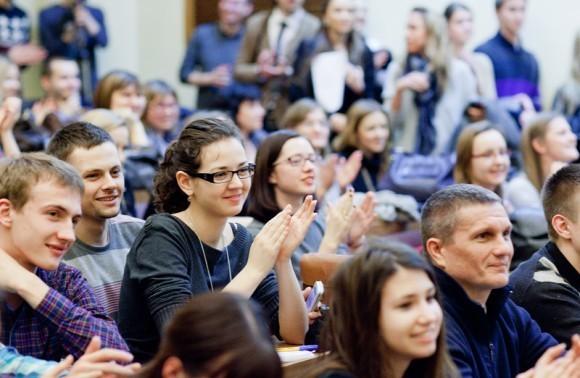 Иван Охлобыстин. Встреча со студентами журфака МГУ. Фото Анны Гальпериной (55)